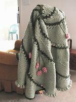 Leaf Swirl Crochet Afghan Pattern