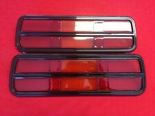 NEW PAIR OF TAIL LAMP LENS TO SUIT FORD FALCON XB-XC COUPES WITH BLACK SURROUND