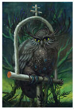 Jeff Soto Shackled Owl Giclee Art Print Surreal Seeker Poster