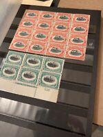 US Scott #294 Block of 6 - Mint OG - #295 Mint OG Block of 16 - BEAUTIFUL