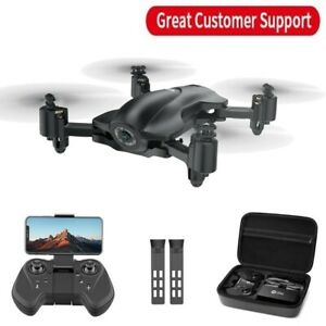 Holy Stone HS165 GPS FPV Drone with 2K HD Camera Foldable Drone 2 Batteries Case