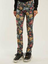 Junya Watanabe Floral-Print Mid-Rise Skinny Jeans Sz M