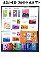 COMPLETE 1968 MEXICO Collection Commemorative YearMNH (26 STPS+ 9 SS) Sc CV$163