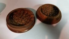 """Wooden Herb / Tobacco 2 Piece Grinder. Large Size 3"""" Fast, Free S/H"""