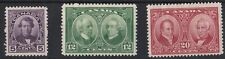 BC1066) Canada 1927 Historical set, SG 271/3 mint hinged. 12c has a little paper