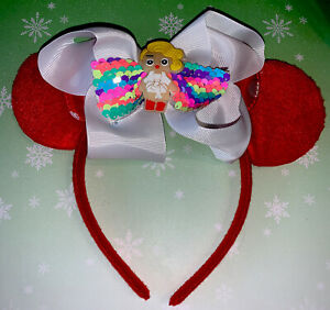 Lol Doll Mickey Mouse Ears Birthday Easter Christmas White Rainbow Sequins Bow