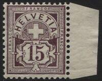 Svizzera - 1905 - cent.15 - Unificato n.105 - nuovo - MNH - Bolaffi