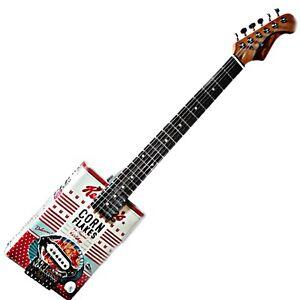 The Kellogg's Tribute Delta Blues Cigar Box Guitar 6 Strings Robert Matteacci