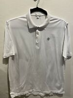 Peter Millar White Polo 100% Cotton Men's Size XL Short Sleeve Golf Casual Wear