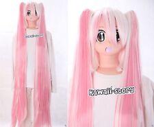 Y-264 VOCALOID Miku weiss rosa pink mix 120cm Pony COSPLAY Perücke Wig hitzefest