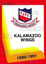 1990-91 ProCards AHL IHL #122 Kalamazoo Red Wings, Checklist