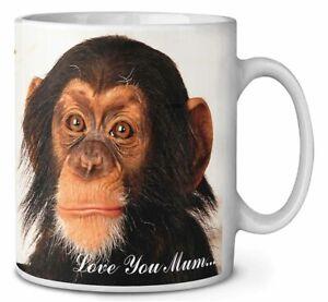 Chimpanzee 'Love You Mum' Coffee/Tea Mug Gift Idea, AM-1lymMG