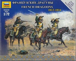 Zvezda Napoleonic Wars French Dragoons 1812-1814 1/72 Scale