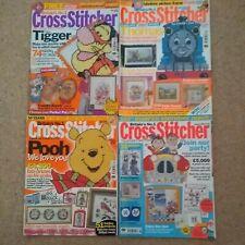 Bundle of 4 Cross Stitcher magazines (120,129,134,150) including Christmas 2002