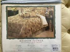 Waterford Meadow Flower Tailored Bed Skirt Nip - Dual King