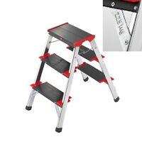Hailo L90 225 ChampionsLine 3 Tread Double Sided Step Ladder |Stool |Take 225 KG