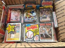 Awesome Medium Flat Rate Box Of Unopened Baseball Cards in Wax Cello Rack Packs