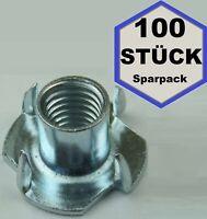 1000 St Einschlagmuttern M10x13mm Stahl verzinkt Klettergriffe