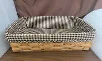Longaberger 2007 Letter PAPER TRAY With Khaki Check Liner