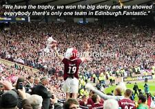 HEART OF MIDLOTHIAN FC HEARTS FC 2012 SCOTTISH CUP FINAL RUDI SKACEL EXCLUSIVE