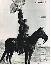 PUBLICITE ADVERTISING  1990    VERSACE   LIBERTA DI PARFUMO