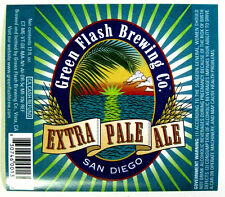 Green Flash Brewing EXTRA PALE  ALE beer label CA 12 oz
