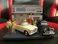Diorama Artisanal FR Voitures Miniatures 1/43 Garage Peugeot (unique)