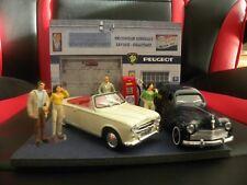 Diorama Voitures Miniatures 1/43 Garage Peugeot (unique)