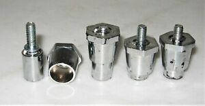 4 legs spacers stands adjustable height plastic base footing metal screw 3 set L