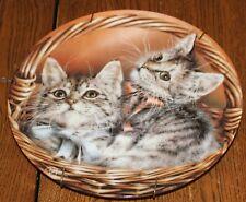 "8 Inch Kitten Decorative Plate; Bradford Exchange; ""Andrew & Abby�"