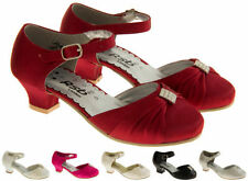 Synthetic Formal Medium Width Shoes for Girls Buckle