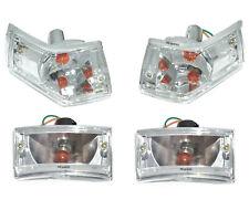 Vespa PX 125 150 200 Front & Rear Indicator Set LML Star Stella Clear Lens CDN