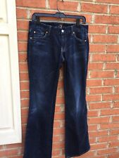 7 For All Mankind Bootcut Slimmy Skinny Jeans Size 30 Dark Wash
