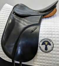 "Stubben Romanus CL Dressage Saddle 17"" Medium-Wide 0560 with two-tone leather"