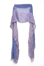 Prussian Blue Unisex Inspired Multi Color String Infused Scarf (S7)