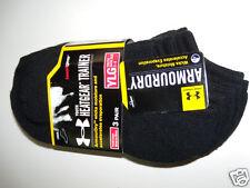 NWT Boys Under Armour Black Solo Liner 3 Pair Socks YLG heatgear Armourdry