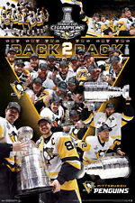 NEW Pittsburgh Penguins 2017 Stanley Cup CELEBRATION Commemorative 24x36 POSTER