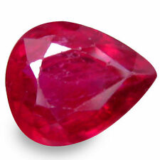 Pear Slight Loose Natural Rubies