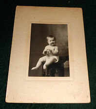 1900-1920s Photo of Baby mounted on card ~ CL Christianson, Granite Falls Minn