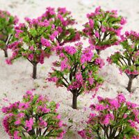 1:100 Peach Model Trees With Flower  Train Railway Wargame Landscape Layout 20Pc