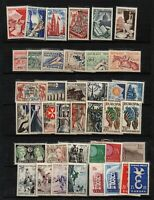 France : 40 timbres neufs ** luxe avec hippisme, alpinisme
