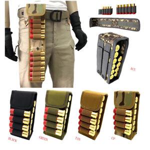 New 16 Round 12GA Tactical Molle Belt Waist Bag Shotgun Shell Ammo Pouch Holder