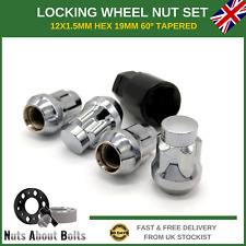 Butzi 12x1.5 Chrome Anti Theft Locking Wheel Bolt Nuts /& 2 Keys for Hyundai ix35