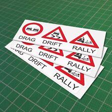 Drag Drift Rally Decal Vinyl Funny Car Window JDM Euro Sticker 150 mm 6''