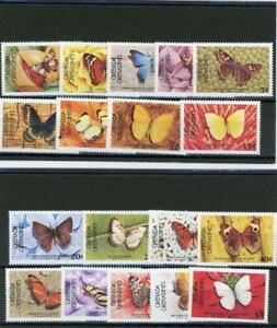 Grenada (Gren) 1985 Butterflies  Scott# 662-81 Mint LH