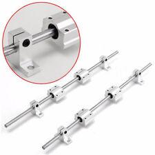 2Pcs 8mm 400mm Linear Shaft Rod Rail Kit w/Bearing Block For 3D Printer CNC Tool