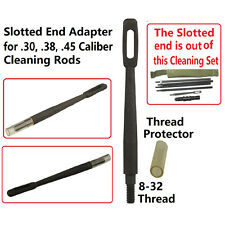 Slotted End Adapter for .30 .38 .45 Caliber Cleaning Rods, 8-32 TPI