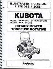 Kubota RCK60P-21Z RCK60P-28Z RCK72P-28Z Zero Turn Mower Illustrated Parts Manual
