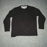 Eddie Bauer Mens XL Black Classic Thermal Waffle Knit Long Sleeve T-Shirt