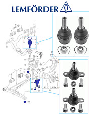 OEM VW T4 Transporter Van Caravell Upper & Lower Ball Joints 1996-2004 LEMFORDER